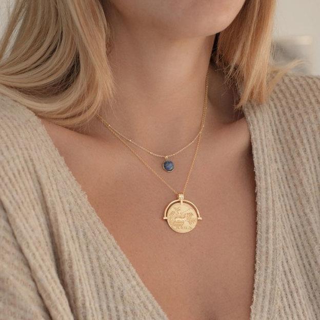 Halskette Roma Sterling Silber gelbvergoldet