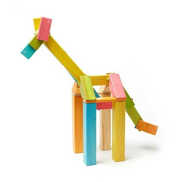 Jeu de construction en bois magnétique TEGU, 42 pièces