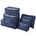 Koffer Organizer 6-tlg dunkelblau