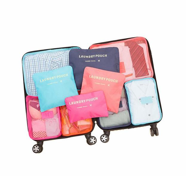 Organisateur de valise 6 pièces, gris