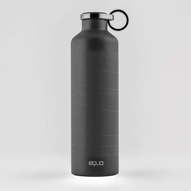 Equa Smart-Bottle mit App, Matte Black, 680ml