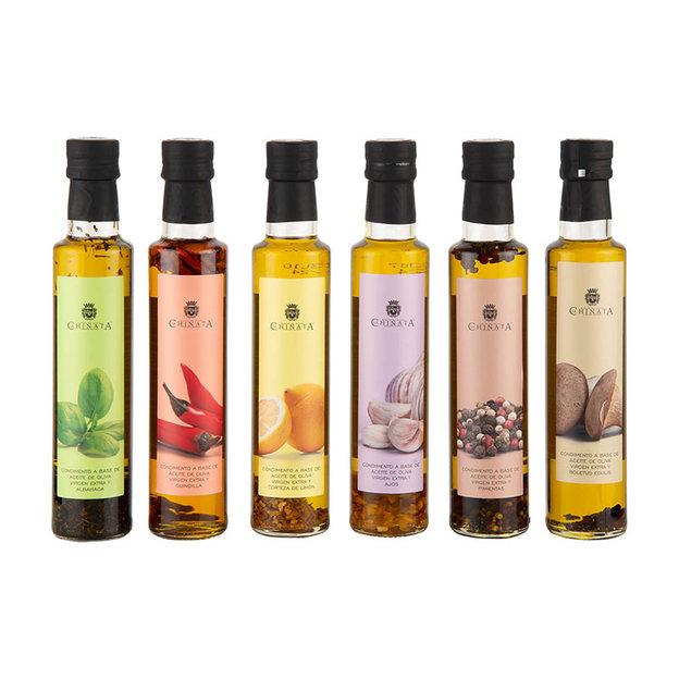 Coffret cadeau 6 huiles d'olive extra-vierge