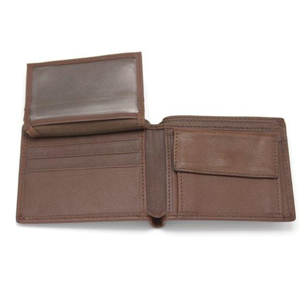 Porte-monnaie en cuir personnalisé, brun clair