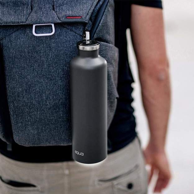 Personalisierbare Equa Smart-Bottle mit App, Dark Grey, 680ml