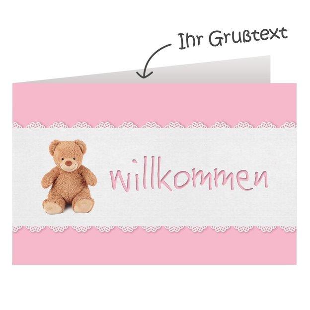 Windeltorte Steiff Bärchen inkl. Rassel rosa