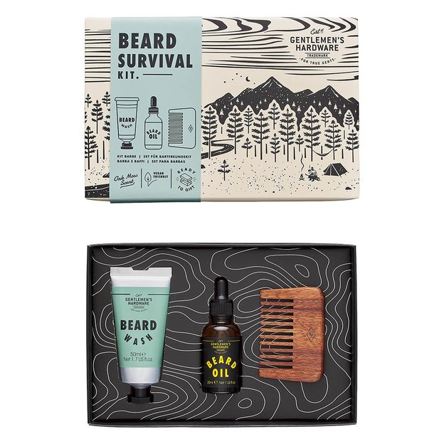 Gentlemen's Hardware Kit de survie pour barbe
