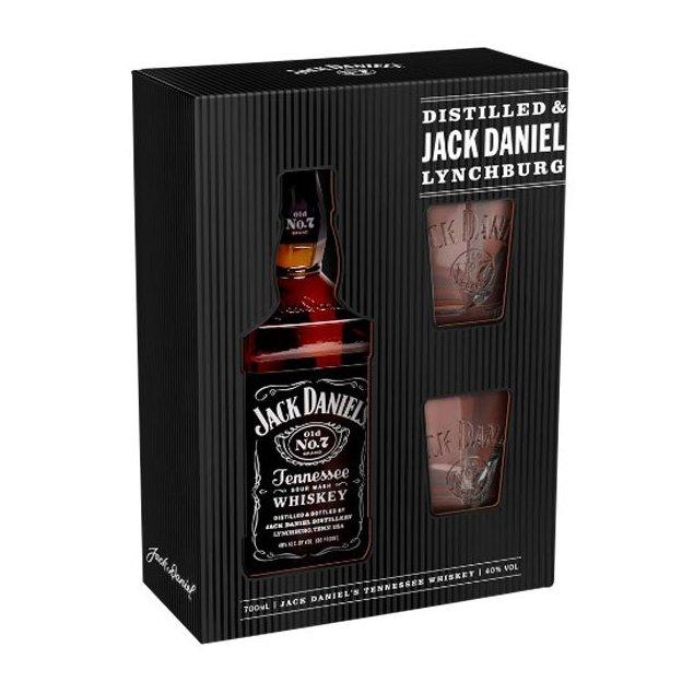 Jack Daniel's Tennessee Whiskey No. 7 mit 2 Gläser