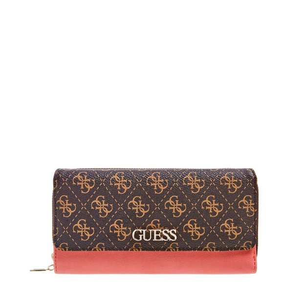 Guess Portemonnaie Leather Goo brown