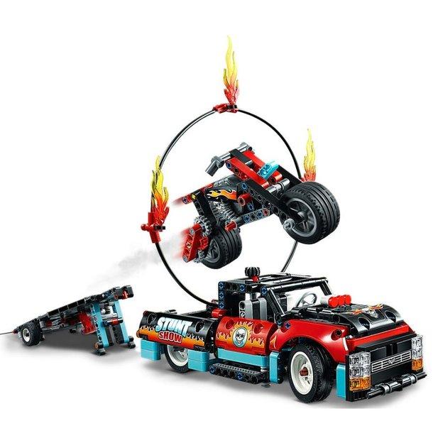 LEGO Technic Stunt-Show mit Truck und Motorrad