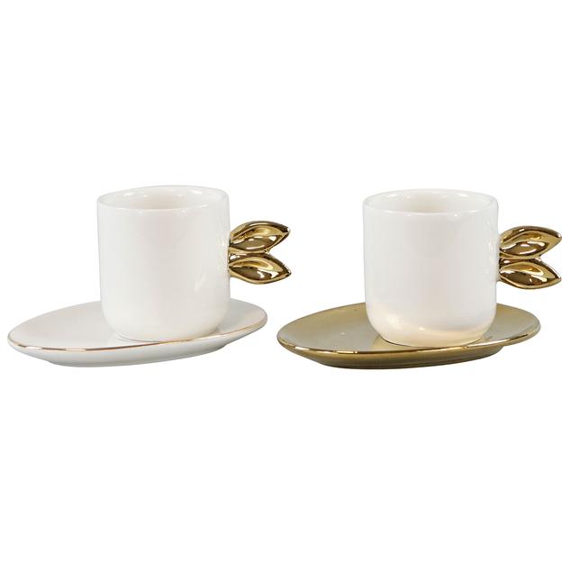 Bialetti Mug Omino avec soucoupe porcelaine