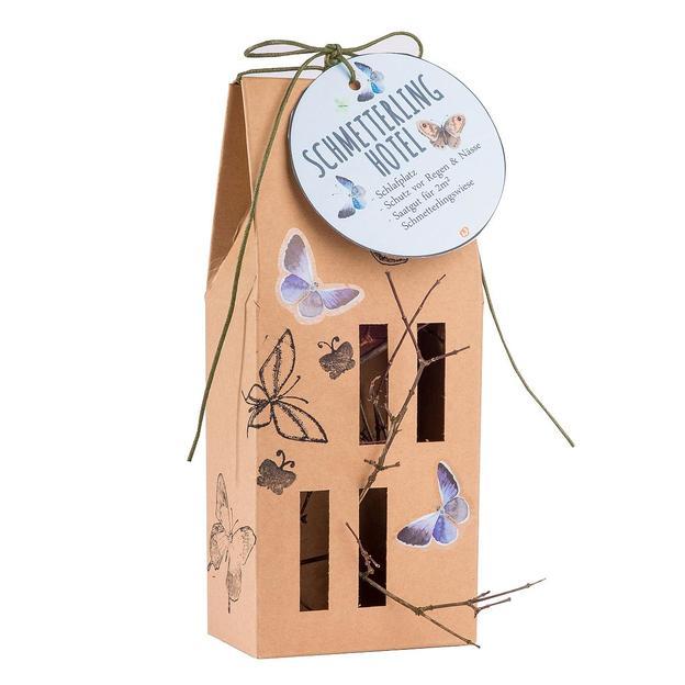 Schmetterlinghotel aus recyceltem Karton