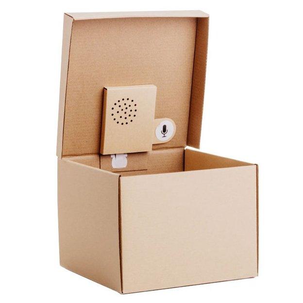 Boîte cadeau avec message vocal à enregistrer