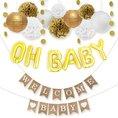 "Babyparty ""Welcome Baby"", Deko-Set gold"