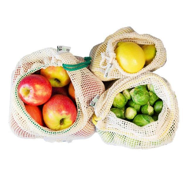 Set de 3 filets pour fruits et légumes