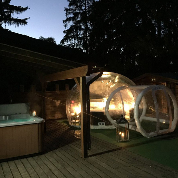 Romantische Übernachtung im Bubble-Hotel in Deutschland (für 2 Personen)