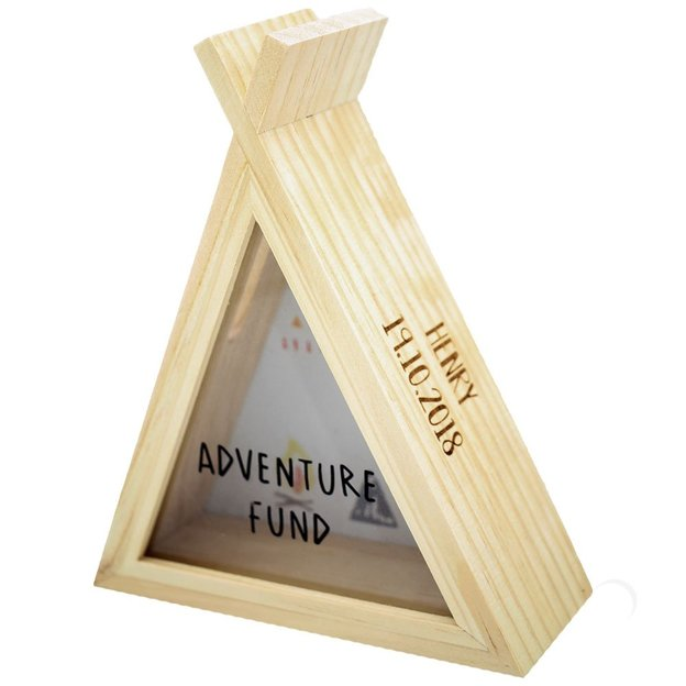 Tirelire Tipi Adventure Fund personnalisable