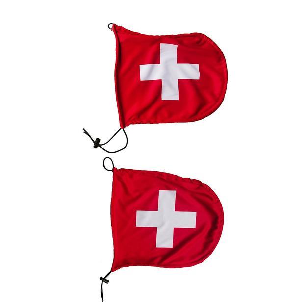 Rückspiegel Flagge Schweiz, 2er Set