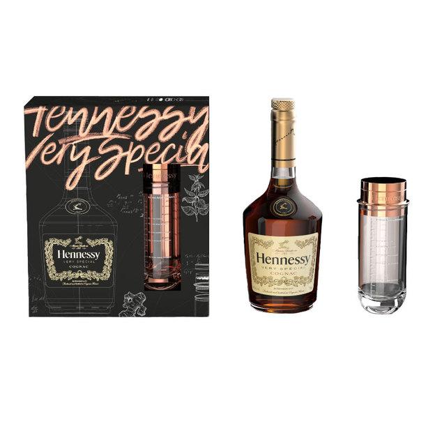 Hennessy Very Special Cognac Set mit Shaker und Rezeptbuch
