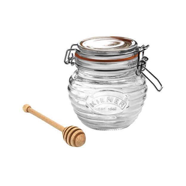 Kilner Honigglas mit Honiglöffel aus Buchenholz - 0.4 L