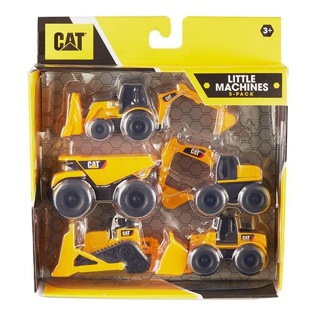 Set de 5 engins de chantier miniatures CAT