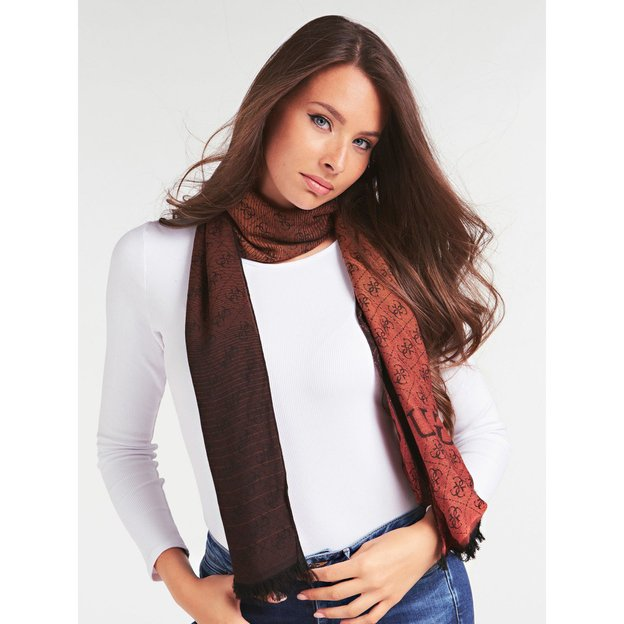 Guess Schal Valy Jacquard Brown