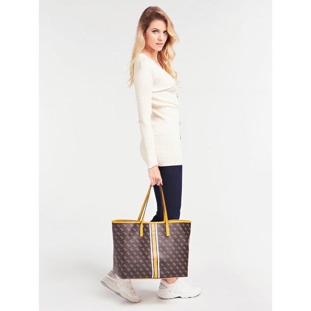 Guess Tasche Vikky Large Tote Brown