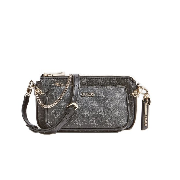 Guess Tasche Arie double pouch Coal