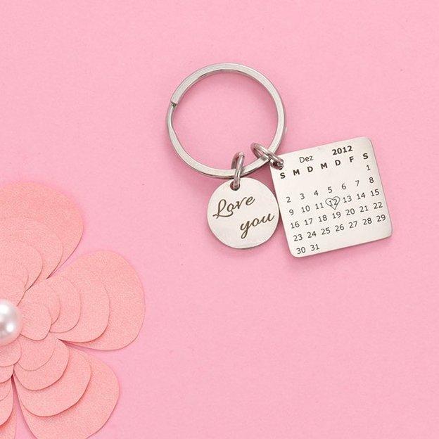 Personalisierbarer Schlüsselanhänger mit Gravur