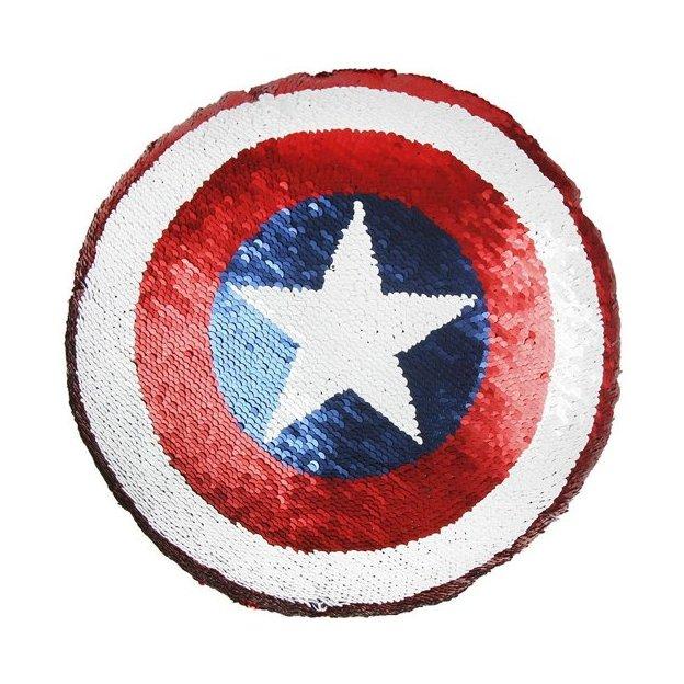 Coussin Captain America Avengers à paillettes