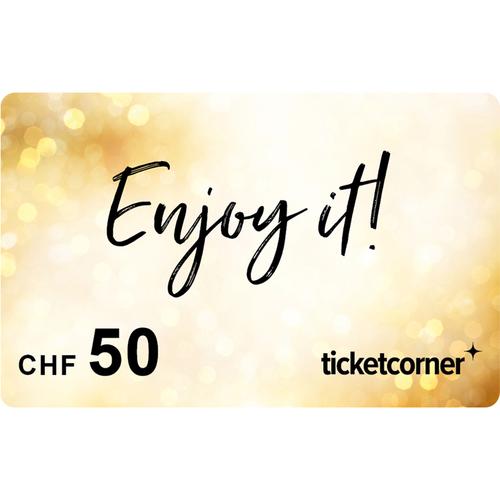 Ticketcorner-Geschenkkarte CHF 50.–