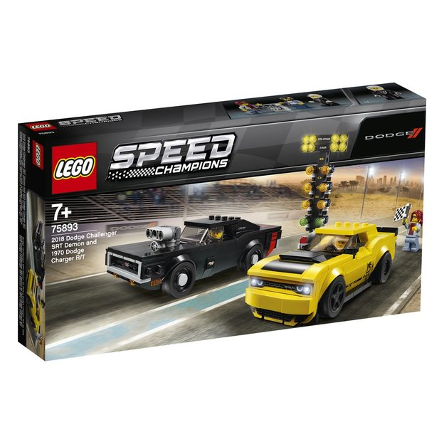 LEGO Speed Champions 2018 Dodge Challenger SRT Demon et 1970 Dodge Charger R/T