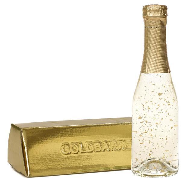 Vin mousseux avec paillettes d'or dans un lingot 0,2 l