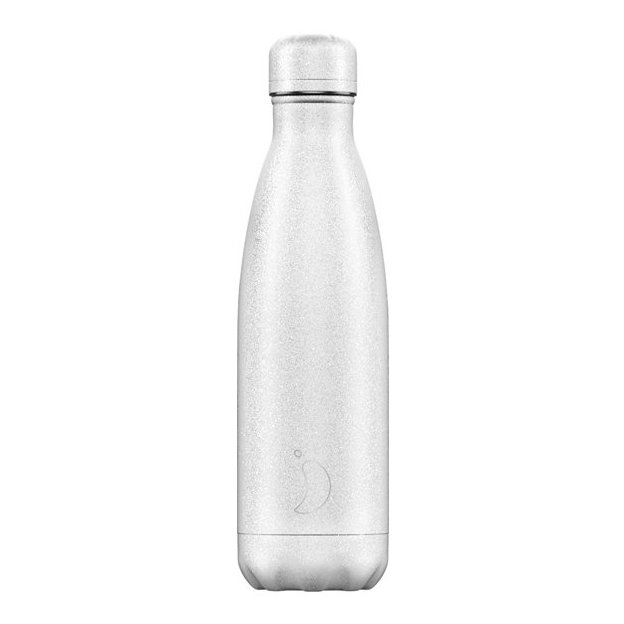 Chilly's Bottles Glitter White, Trinkflasche 500 ml