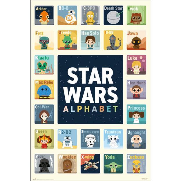 Star Wars Poster Alphabet ABC