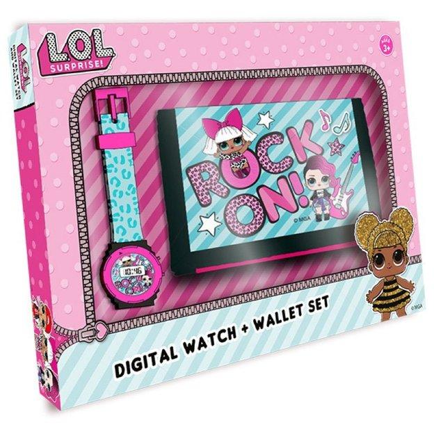 L.O.L. Surprise Uhr & Portemonnaie Set