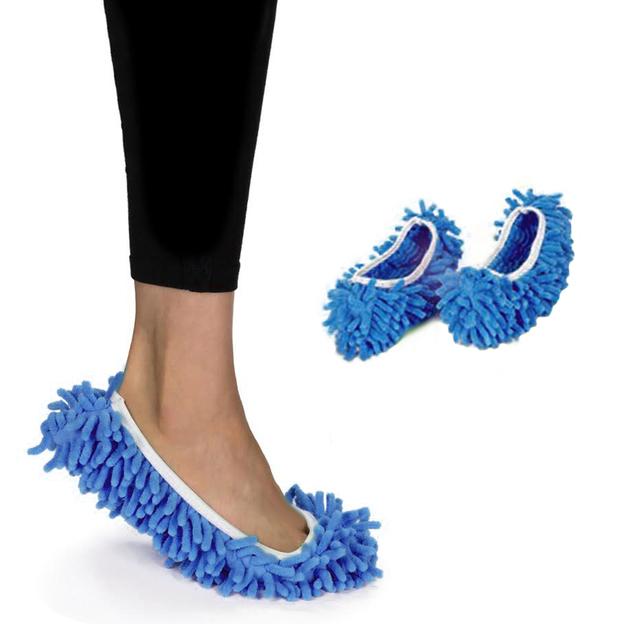 Chaussons anti-poussière Wischmob bleu