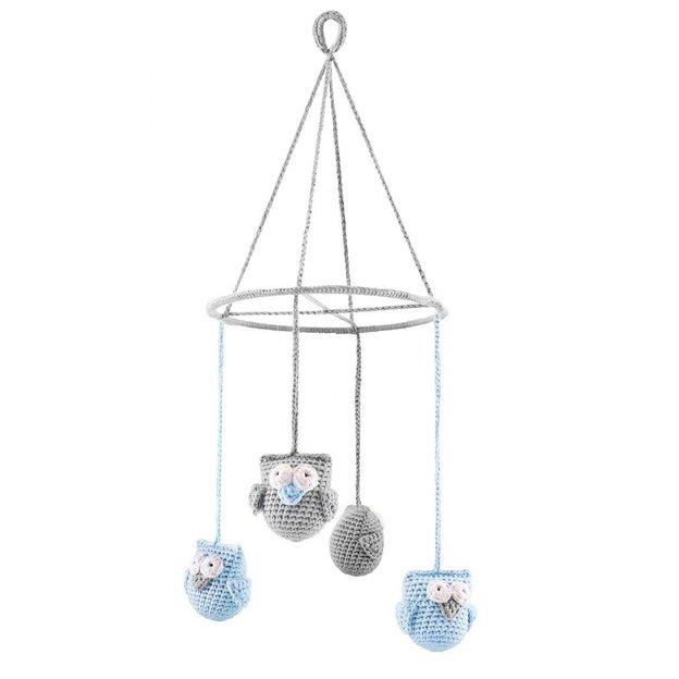 Mobile pour bébé Hiboux Carrousel bleu de Maylily