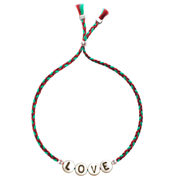 Bracelet avec lettres LOVE en verre