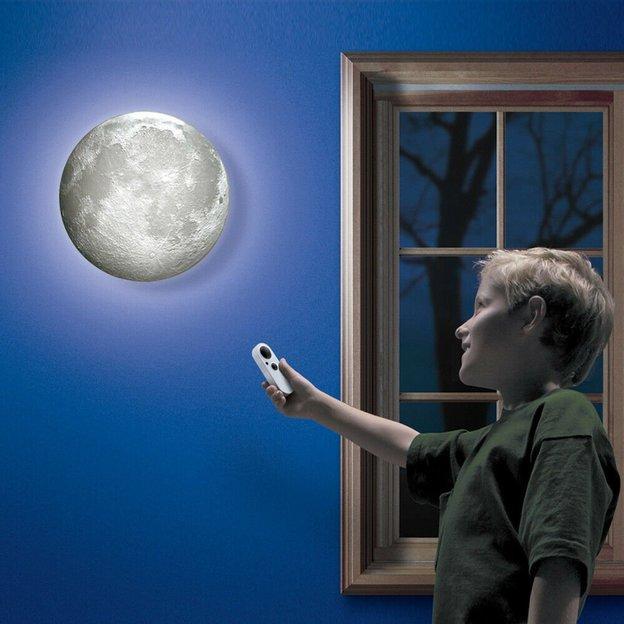 Lampe murale Lune avec phases lunaires