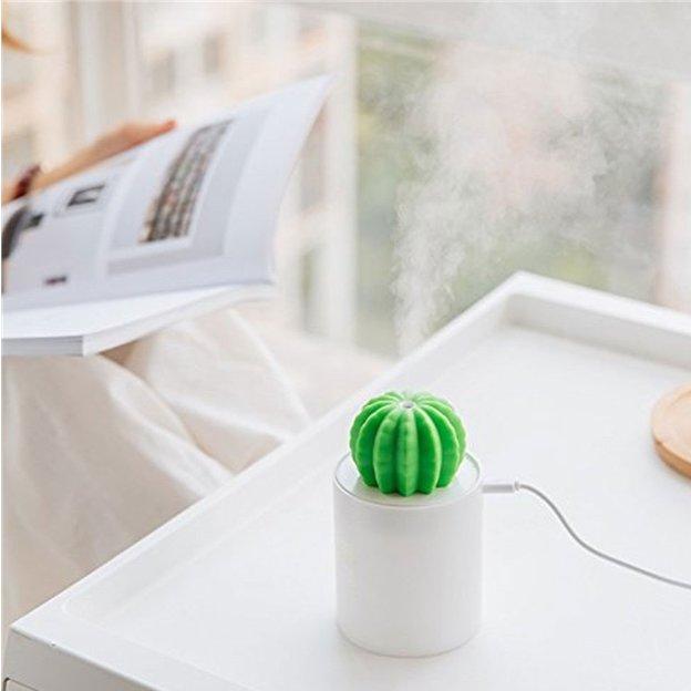 Humidificateur Cactus blanc