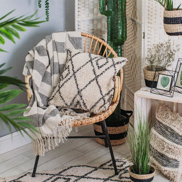 Couverture style scandinave-boho