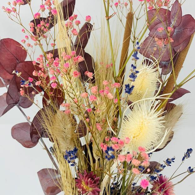 Bouquet de fleurs séchées, pink