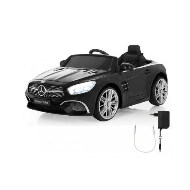 Mercedes-Benz SL 400 schwarz 12V, Elektroauto für Kinder