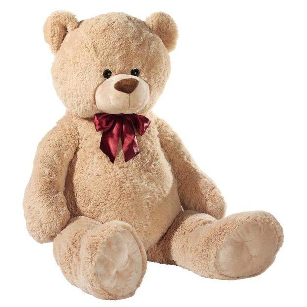 Riesen Teddybär XXL hellbraun mit Schleife 80cm