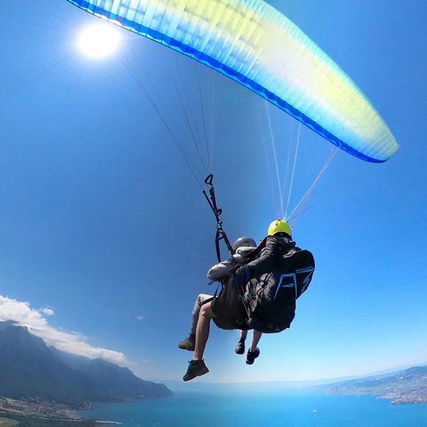 Vol en parapente biplace sur la Riviera Montreux-Villeneuve (1 pers.)