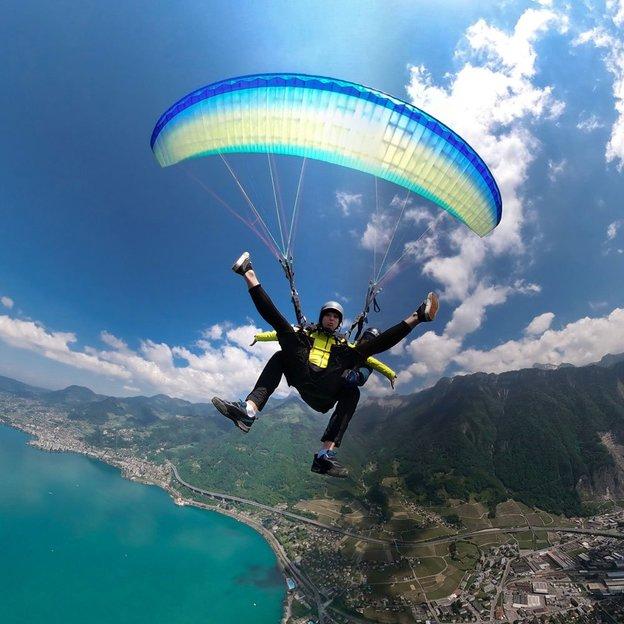 Tandem-Gleitschirmflug über die Riviera Montreux-Villeneuve (für 1 Person)