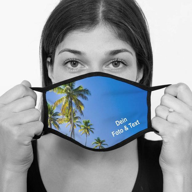 Personalisierte Stoffmaske