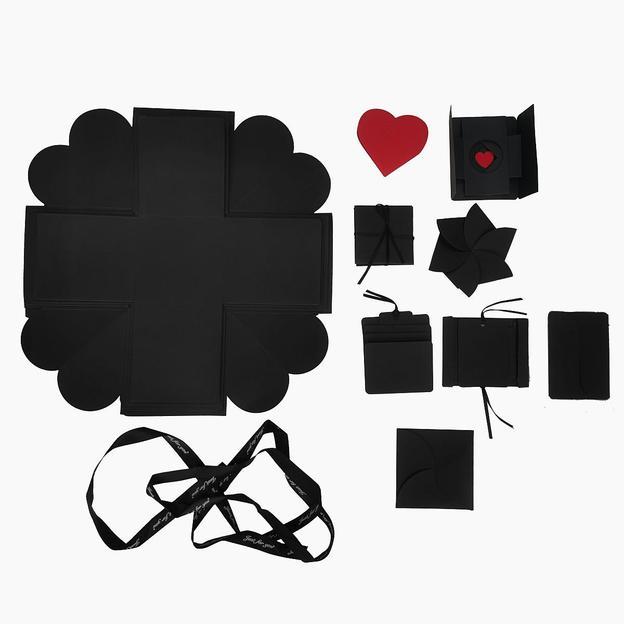 DIY Überraschungsbox / Explosionsbox Easy, schwarz