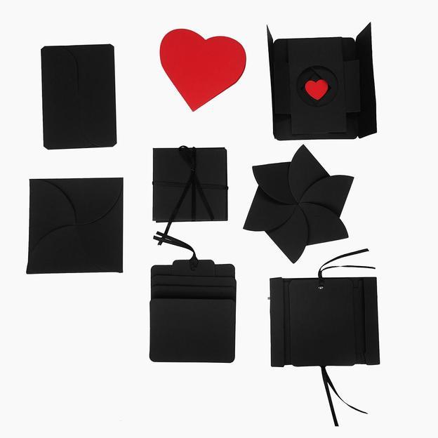 Boîte à photos surprise DIY, noir