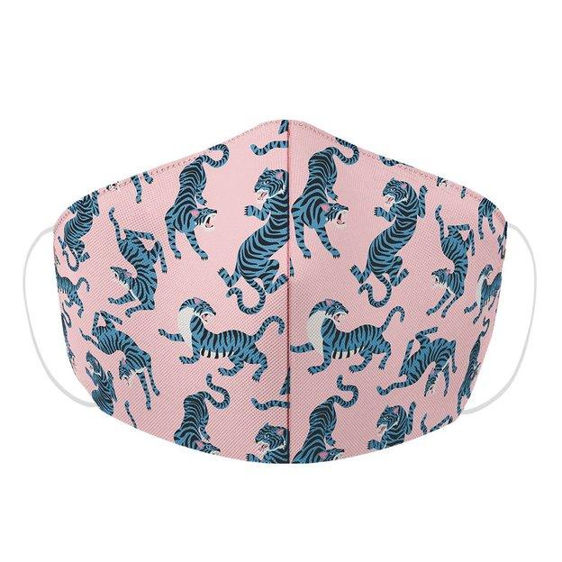 Masque de protection rose tigres